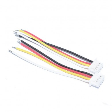 10 PCS JST-SH 1.25mm 4Pins 4P Macho Soft Silicona Cable de conexión Alambre para RC Drone FPV Racing