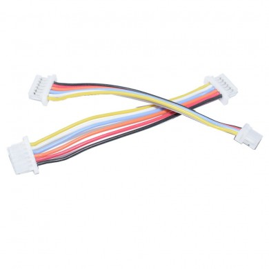 5 PCS JST-SH 1.0mm 6 Pins to 6 Pins 6P Flight Controller ESC Silicone Connection Wire for RC Drone