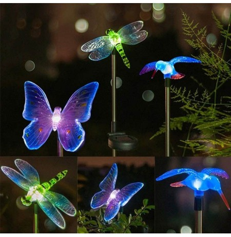 Solar Power Animal Colorful LED Light Garden Landscape Decoration Waterproof Lamp