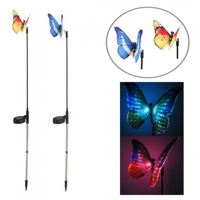Garden Solar Power Colorful LED Butterfly Light Balcony Courtyard Decoration Lamp