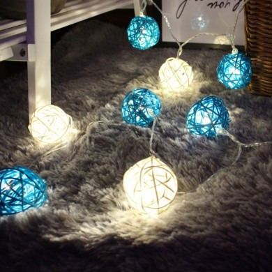KCASA DSL-5 Jardinagem 5M 40LED Corda Light Ratten Shape Holiday Garden Party Wedding Decoration