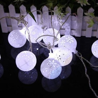 KCASA CSL-7 Jardinagem 5M 20LED String Light Snow Ball Shape Holiday Garden Party Wedding Decoration