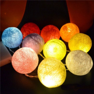 KCASA CSL-8 Gardening 5M 20LED String Light Cotton Shape Holiday Garden Party Wedding Decoration