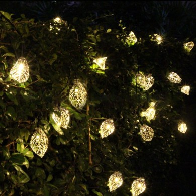 KCASA SSL-5 Gardening  4.8M 20LED Solar Panel Light Leaves Holiday Christmas Wedding Decoration