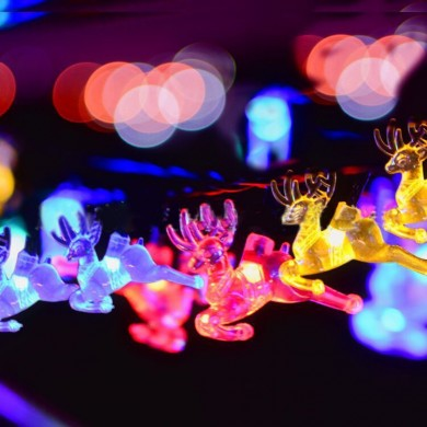 KCASA SSL-10 Jardinagem 4.8M 20LED Painel Solar Light Deer Holiday Christmas Wedding Decoration