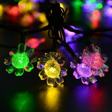 KCASA SSL-8 Gardening 7M 50LED Painel Solar String Light Sunflower Holiday Christmas Decoration