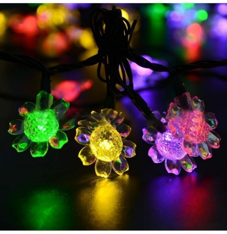 KCASA SSL-8 Gardening 7M 50LED Solar Panel String Light Sunflower Holiday Christmas Decoration