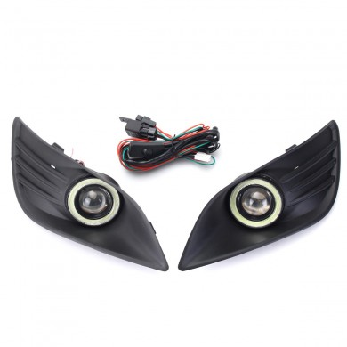 Car Front Bumper Fog Lamp Daytime Running Angel Eyes Lights with Wiring Kit for Ford Focus 2009 2010