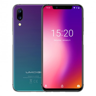 UMIDIGI One 5.9 pouces FullSurface Global LTE Bande 4GB RAM 32GB ROM Helio P23 Octa-core 4G Smartphone