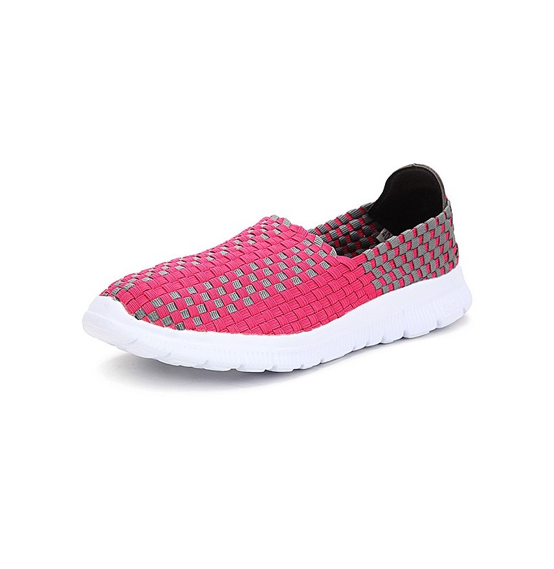 New Stretch Knitting Women Casual Flat Sport Shoes (Color: Green, Size(US): 8) фото