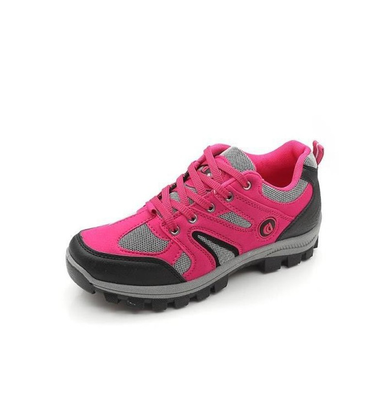 Women Sport Running Shoes Casual Outdoor Light Flats (Color: Rose Red, Size(US): 6) фото