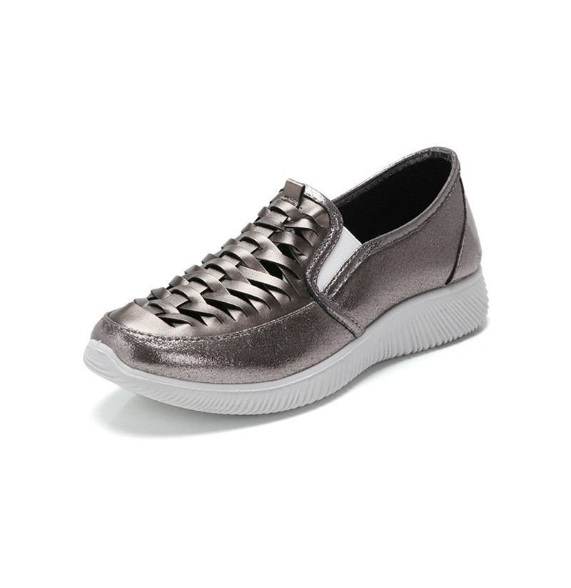 Women Casual Shoes In Leather (Color: Black, Size(US): 8)