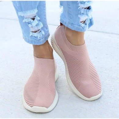 Large Size Women Mesh Outdoor Slip On Sneakers