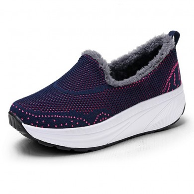 Femmes Chaussures Doublure Chaude Baskets Casual Baskets