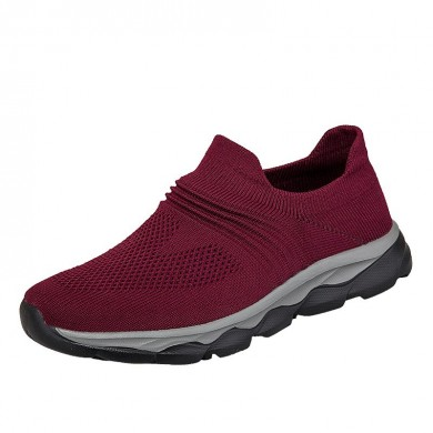 Knit Walking Shoes Casual Breathable Slip On Sneakers