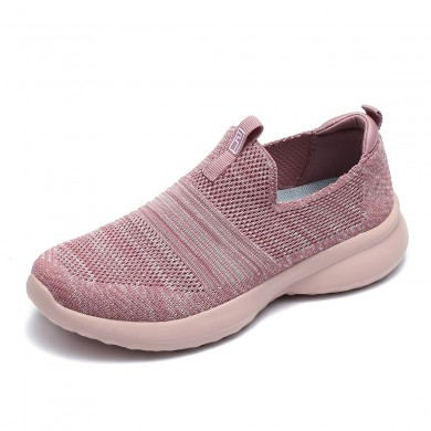 Mulheres ao ar livre andando Slip On Knit Sneakers