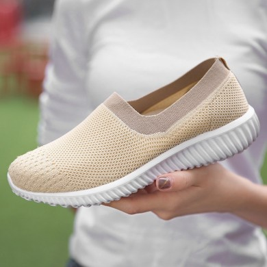 Women Sneakers Shoes Mesh Breathable Slip On Casual Shoes