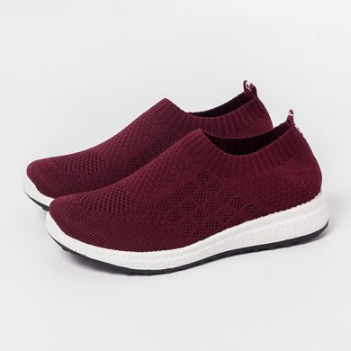 Large Size Breathable Mesh Sneakers Slip On Casual Shoes