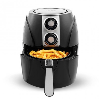 SALTER Air Fryer Household Circulation Fume Free Non-stick Frying Pan Intelligent Mobile-UK-Black