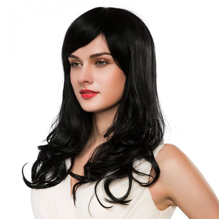 Perruque à cheveux longs et bouclés sans capless Virgin Remy Mono Top Blonde Auburn Brown