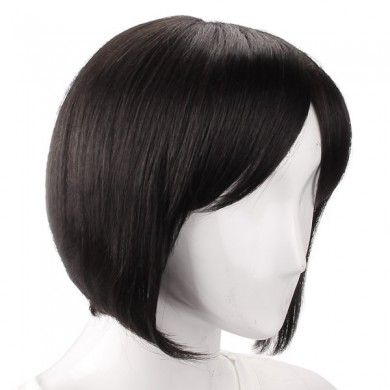 5 Colors Capless Remy Mono Top Short Straight Real Virgin Human Hair Wig