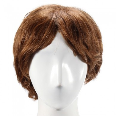 Full Human Hair Wigs Short Capless Mono Top Virgin Remy 12 Colors to Choose