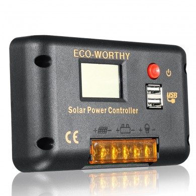 Solar Charge Controller 15A LCD Display Controller Solar Controller For PWM Solar Power Panel Water Pump