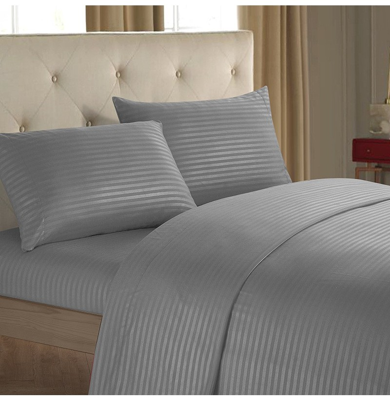 Honana Striped Bed Sheet Set 3/4 Piece Highest Quality Brushed Microfiber Wrinkle & Fade & Stain Resistant Bedding (Color: Dark Blue, Bedding Size: 4Pcs Full Size) фото