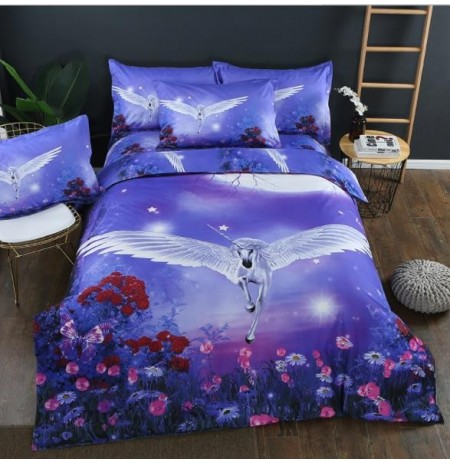 3PCS Bedroom Bedding Sets Bedclothes Animal Print Bedding Sets Quilt Duvet Cover Pillowcases Decors