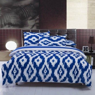 3/4pcs Suit Polyester Fiber Geometric Pattern Bedding Set
