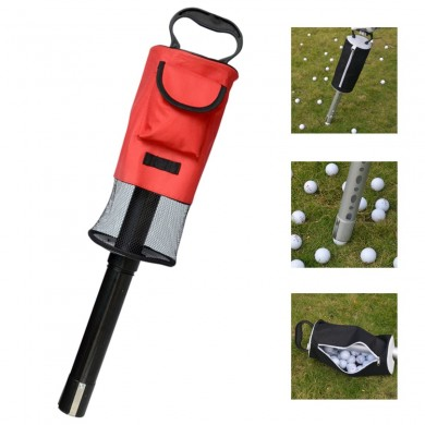 Portable Golf Ball Picker Pick-Ups Retrievers Pocket Storage Bag Scooping Device