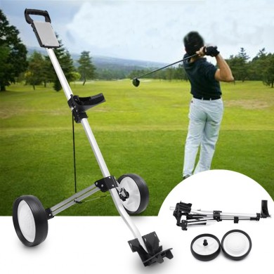 Golf Trolley Folding Two Wheel Golf Push Pull Cart Portable Golf Trailer