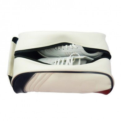 33 x 23 x 15cm Golf Shoes Bag Portable Shoe Storage Bag Multifunction Camping PU Leather Sports Bag
