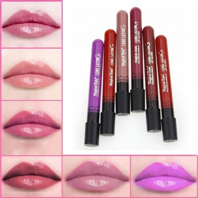 Magic Holo Lipstick Matte Velvet Lip Gloss Purple Red 6 Colors Avaliable