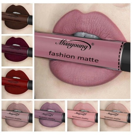 Missyoung Matte Lip Gloss Lips Lipstick Long Lasting Liquid Cosmetics Exaggerated Makeup