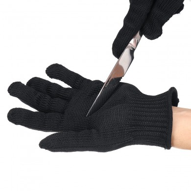 1 Pair Anti-Cutting Resistant Work Safety Gloves Level 5 Protection Steel Mesh Wire