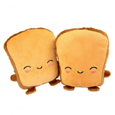 Toast USB Heating Motorcycle Gloves Hand Warmers Cute Half Wearable Fingerless