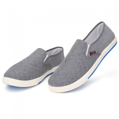 Canvas Breathable Slip On Loafers Casual Men Solid Cotton Shoes Driving Shoes