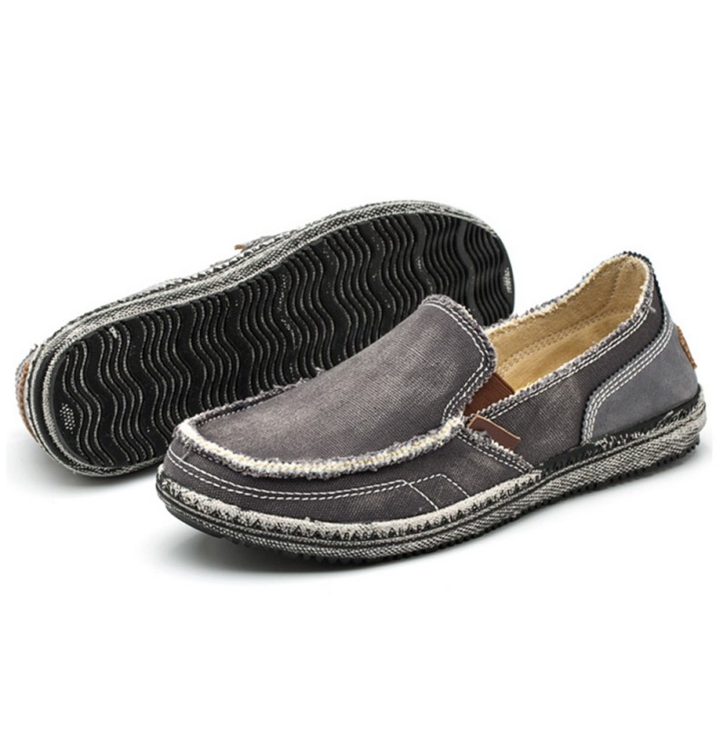 Men Soft Comfortable Canvas Flats (Color: Dark Blue, Size(US): 10) фото