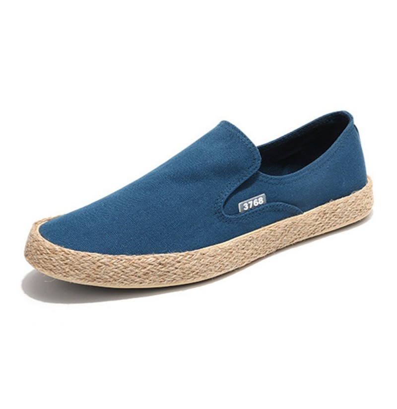 Casual Canvas Soft Soles Daily Loafers (Color: Khaki, Size(US): 10) фото