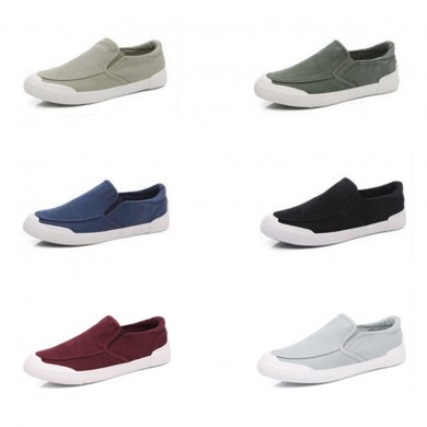 Men Casual Canvas Comfy Soft Walking Flats