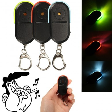 Wireless Anti Lost Finder Locator Portachiavi Sound Whistle Sound con luce a led