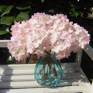 Flores artificiales Hydrangea Silk Nupcial Bouquet Party Home Boda Decor 5Colors