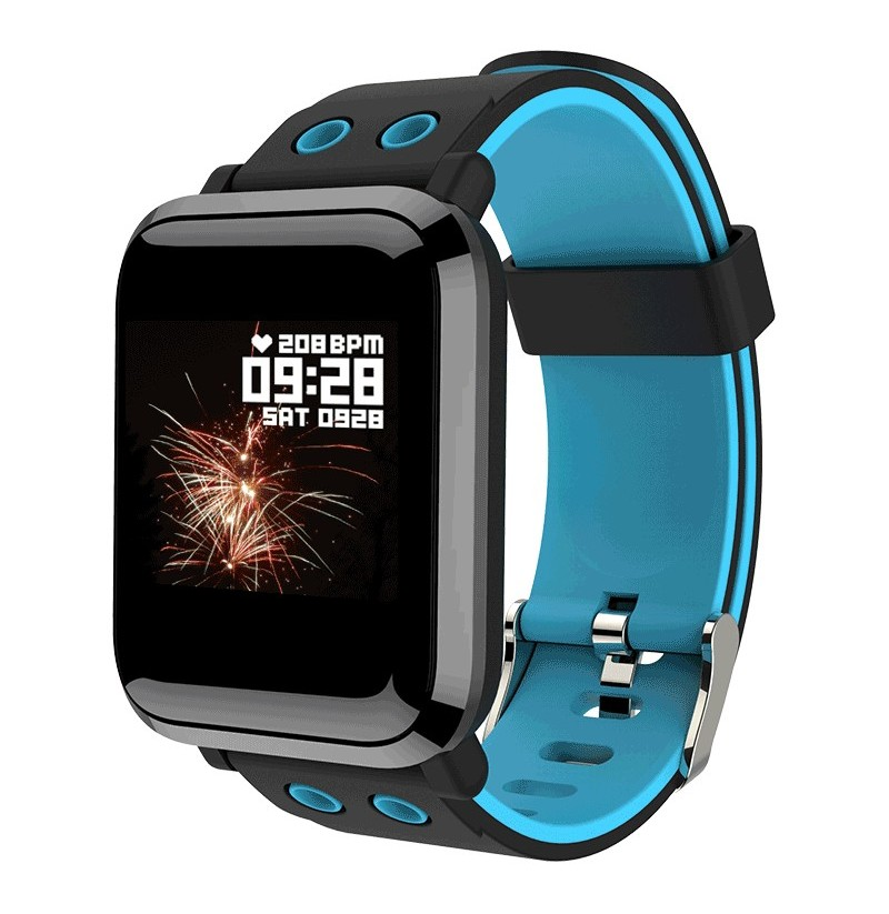 XANES G10 1.3 IPS Color Touch Screen IP67 Waterproof Smart Watch Pedometer Heart Rate Blood Pressure Monitor Fitness Bracelet (Color: Black)  - buy with discount