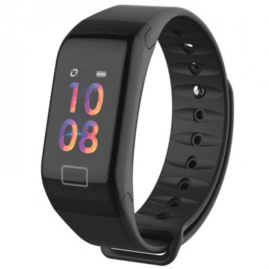 XANES® F1 0.96'' OLED Touch Screen IP67 Waterproof Smart Watch Blood Pressure Monitor Fitness Exercise Sports Bracelet