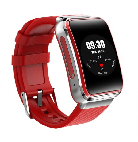 XANES® W105 512MB+8G SIM TF Card GPS WiFi 1.54'' Curved Screen Smart Watch HD Camera Heart Rate Monitor Anti-lost Fitness Exerci