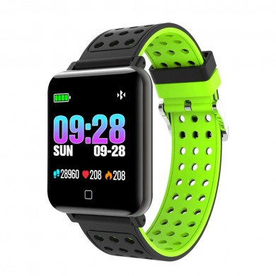 XANES® M19 1.3'' IPS Color Screen IP67 Waterproof Smart Watch Heart Rate Monitor Call Reject Fitness Exercise Sports Bracelet