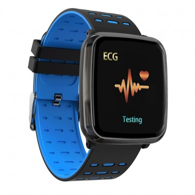 XANES® K02 1.3'' TFT Color Touch Screen IP68 Waterproof Smart Watch PPG+ECG Heart Rate Blood Oxygen Monitor Find Phone Fitness S