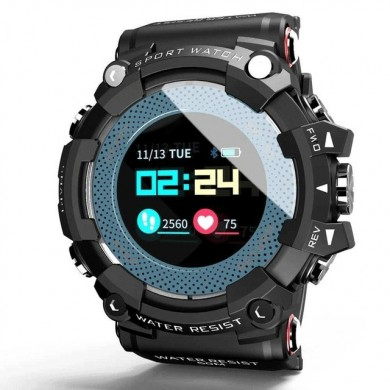 LOKMAT MX161.0'' Color Screen 5ATM Waterproof Smart Watch Heart Rate Monitor Find Phone Cloud Sevice Fitness Exercise Sports Bra