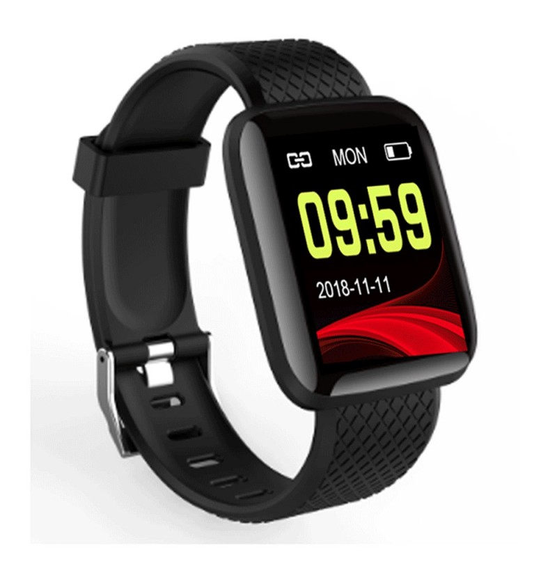 XANES® M5 1.3'' Color Screen IP67 Waterproof Smart Watch Heart Rate Monitor Information Push Find Phone Fitness Sports Bracelet (Color: Blue) фото